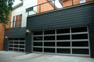 contemporary style glass garage door dallas tx